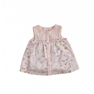 Bonbon Chic Kız Bebek Kısa Kol Bluz Pembe  (0-3 yaş)