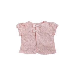 Bonbon Chic Kız Bebek Fiyonklu Ceket Pembe  (0-3 yaş)