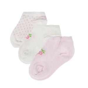 Picnic Blossom Üçlü Çorap Set Pembe (0-2 yaş)