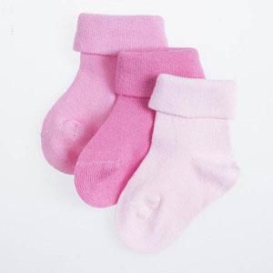Üçlü Soket Çorap Set Pembe (0-24 ay)