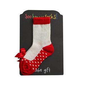 Ayakkabı Desenli Çorap Kırmızı (3-24 ay)