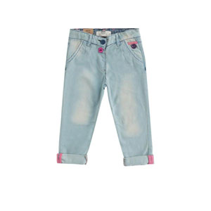 Kız Çocuk Baskılı Pantolon Mavi (0 ay-3 yaş)