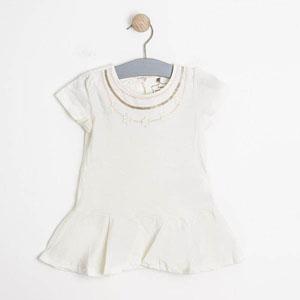 Bonbon Chic Kısa Kol Tunik Beyaz  (0-3 yaş)