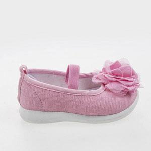 Cırtlı Keten Ayakkabı Pembe (19-27 numara)