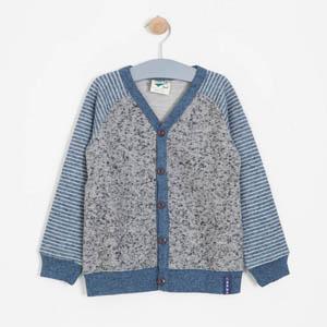 Erkek Çocuk Hırka Tişört Set Gri (3-5 yaş)