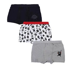 Erkek Çocuk Üçlü Boxer Set Beyaz (2-6 yaş )