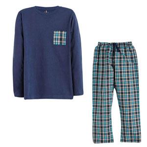 Erkek Çocuk Pijama Takımı Marin (8-10 yaş)