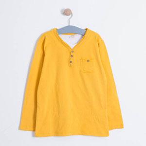 Erkek Çocuk Uzun Kol Tişört Karamel (8-10 yaş)