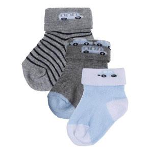 Baby Boy 3 Pack Socks Grey (14-22 number)
