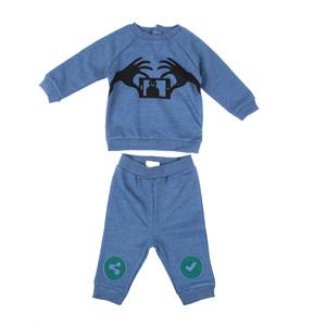 Erkek Bebek Eşofman Takımı Koyu Mavi Melanj (0-3 yaş)