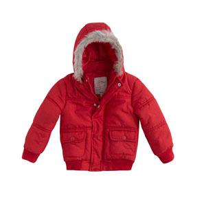 Erkek Bebek Kaban Kırmızı (0-3 yaş)