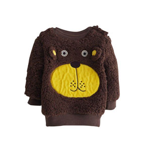Erkek Bebek Sweatshirt Kahve (0-3 yaş)