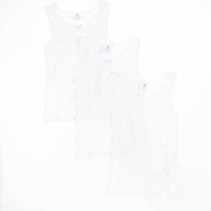 Kız Çocuk Üçlü Atlet Set Beyaz (2-6 yaş)
