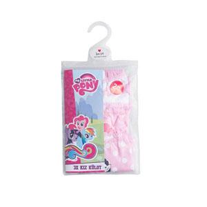 My Little Pony Üçlü Kız Çocuk Boxer Set Pembe (2-6 yaş)