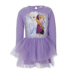 Disney Frozen Uzun Kol Elbise Pembe (2-7 yaş)
