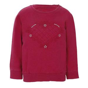 Kız Çocuk Sweatshirt Vişne (3-7 yaş)