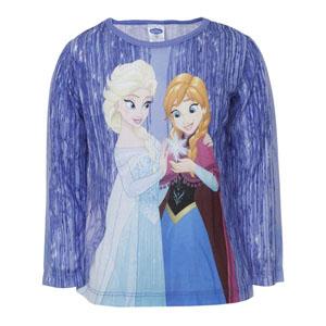 Disney Frozen Kız Çocuk Uzun Kol Tişört Pembe (2-7 yaş)