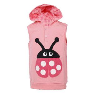 Kız Çocuk Kapüşonlu Yelek Pink (1-5 yaş)