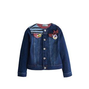 Kız Çocuk Kot Ceket Mavi (8-10 yaş)