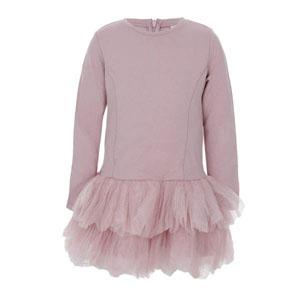 Kız Çocuk Uzun Kol Elbise Pembe (8-10 yaş)
