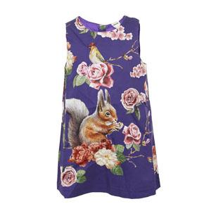 Kız Çocuk Kolsuz Elbise Mor (8-10 yaş)