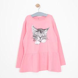 Kız Çocuk Pijama Takımı Pembe (8-10 yaş)