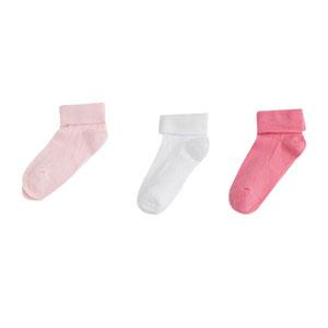 Kız Bebek Üçlü Çorap Set Pembe (0-2 yaş)
