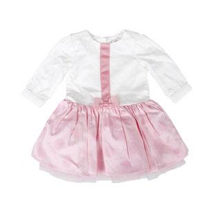 Kız Bebek Uzun Kol Elbise Ekru (0-2 yaş)