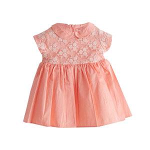Kız Bebek Kısa Kol Elbise Şeftali (0-3 yaş)