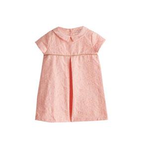 Kız Bebek Kısa Kol Elbise Tropik Şeftali (0-3 yaş)