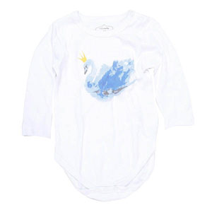 Kız Bebek Uzun Kol Badi Beyaz (0-12 ay)
