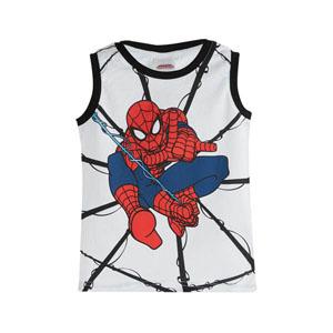 Ultimate Spider-Man Erkek Çocuk Kolsuz Tişört Beyaz (3-7 yaş)