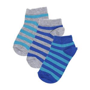 Erkek Çocuk Üçlü Patik Çorap Set Lacivert (23-34 numara)