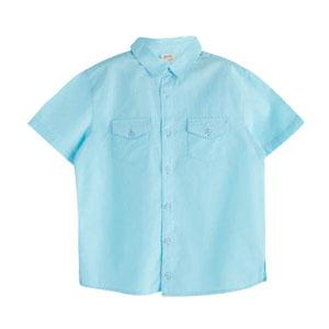 Erkek Çocuk Kısa Kol Gömlek Petit Blue (3-12 yaş)