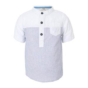 Erkek Çocuk Cepli Gömlek Beyaz (3-12 yaş)