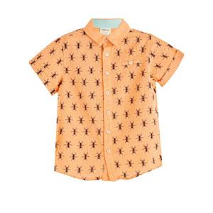 Erkek Çocuk Kısa Kol Gömlek Oranj (3-12 yaş)