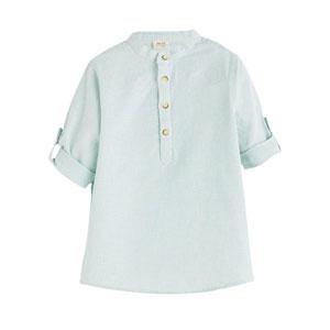Erkek Çocuk Kısa Kol Gömlek Turkuaz (3-10 yaş)