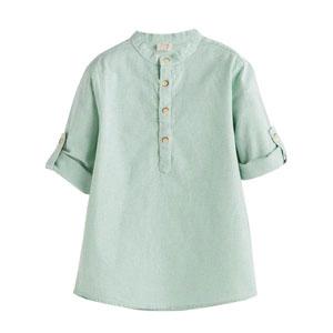 Erkek Çocuk Kısa Kol Gömlek Elma Yeşili (3-10 yaş)