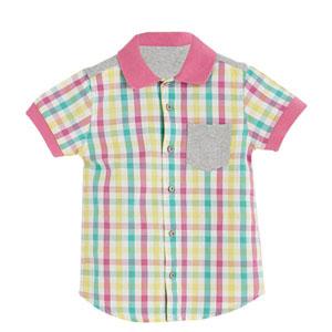 Erkek Çocuk Kareli Kısa Kol Gömlek Gonca (3-12 yaş)