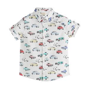 Erkek Çocuk Kısa Kol Gömlek Baskılı (3-7 yaş)