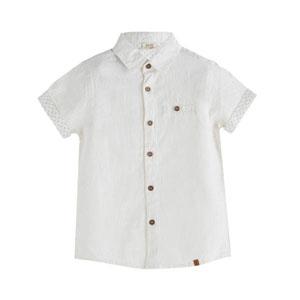 Erkek Çocuk Kısa Kol Gömlek Beyaz (3-10 yaş)