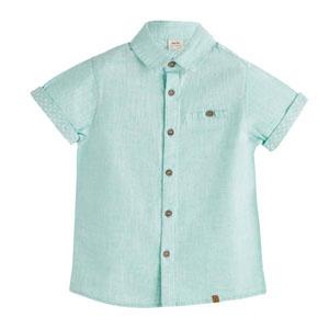 Erkek Çocuk Kısa Kol Gömlek Aqua (3-10 yaş)
