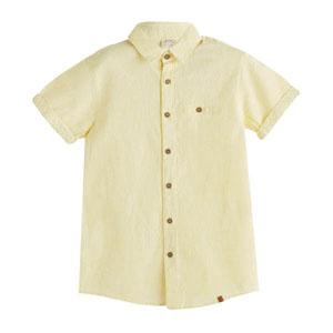 Erkek Çocuk Kısa Kol Gömlek Limon Sarısı (3-10 yaş)