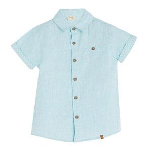 Erkek Çocuk Kısa Kol Gömlek Petit Blue (3-10 yaş)