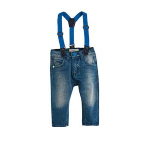 Erkek Çocuk Kot Askılı Pantolon İndigo (1-5 yaş)