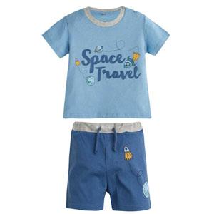 Erkek Çocuk Pijama Takımı Açık Lacivert (4-12 yaş)