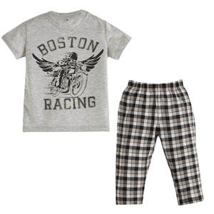 Erkek Çocuk Pijama Takımı Gri Melanj (4-12 yaş)