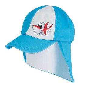 Erkek Çocuk Ense Korumalıklı Şapka Mavi (1-7 yaş)