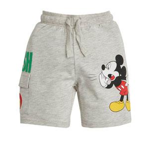 Disney Mickey Mouse Erkek Çocuk Cepli Şort Açık Gri Melanj (2-7 yaş)