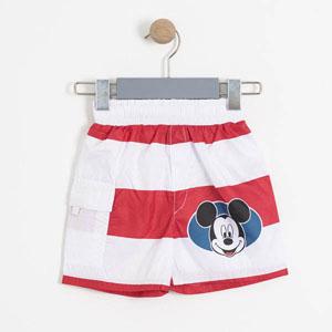 Disney Mickey Mouse Erkek Çocuk Şort Mayo Kırmızı (2-7 yaş)